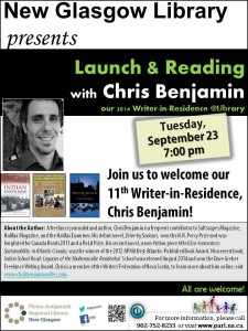 Launch and reading from Chris Benjamin WiR NG Tues Sept 23