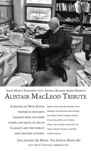 Alistair MacLeod reading